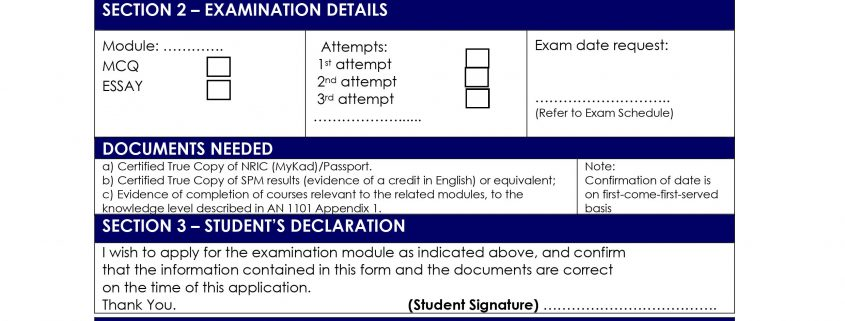 APPLICATION FOR CAAM PART-66 AML MODULAR EXAMINATIONS